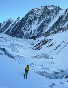 The Argentiere Glacier Rive Droite Exit Good Skiing through Fantastic Glacial Scenery