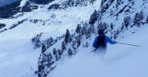 Shady North Facing Powder Skiing at C.2600m at Pila, Aosta