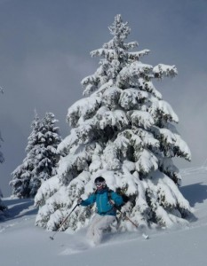 Easy Angled Powder Skiing in St Gervais