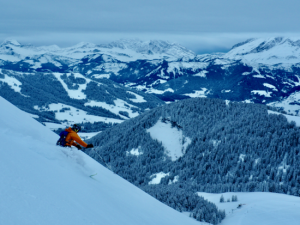 Powder Feast High On Mont Joly  With Les Aravis Beyond