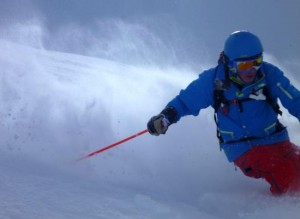 Rob Stone Having the Powder on Mont Joly Jan 2013