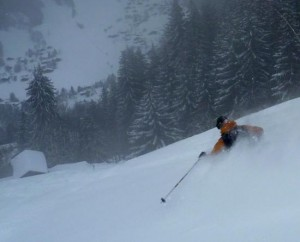 Superb Powder Skiing above St Nicholas