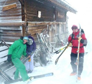 Wild Day at the Refuge de Porcherey St Gervais Ski Area