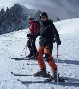 Gordon and Mat in the Vallee Blanche