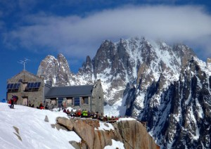 The Requin Hut Half Way Stop on the Vallee Blanche