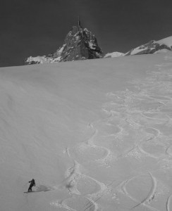 The first pitch on the Vallee Blanche Petit Envers