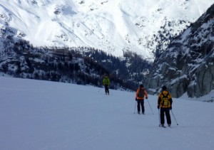 The last leg of the Vallee Blanche to Montenvers