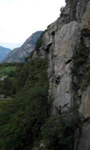 Rock Climbing at Arnard Vallee dAosta