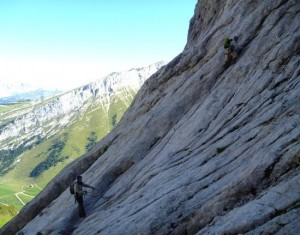 The Quality Limestone Climbing Starts Straightaway on the first Pitch of Arete à Marion