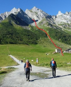 The Steep and Direct Approach from Col Des Aravis to Arete à Marion