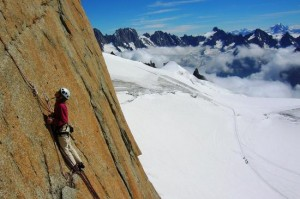 Superb Rock Climbing Ambiance on the Midi South Face