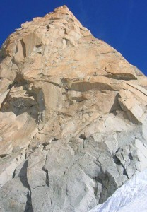 The Beautiful Pale Golden Granite of the Midi South Face