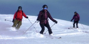 Great Snow Conditions in Mid Winter Skiing the Petit Croisse Baulet