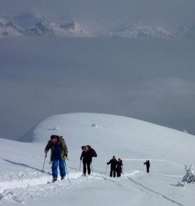 The Superb Ski Touring Ascent of the Petit Croisse Baulet French Aravis