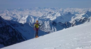 Beautiful Back Drop To Ski Touring High Above The Glacier Tre la Tete