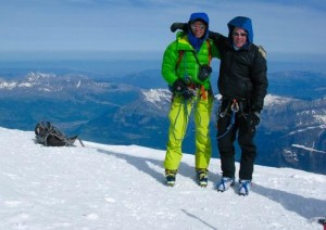 Ben and Francois On The Summit of Mont Blanc