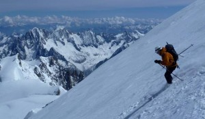 Classic Chamonix Ski Mountaineering on the North Face of Mont Blanc May 2011