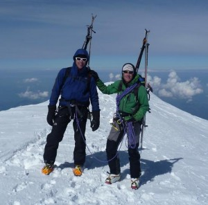 Marcus and Rob Arrive on the Summit of Mont Blanc at 10am
