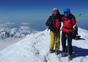 Satisfaction and Relief after 9 hours of ascent to the summit of Mont Blanc 4810m
