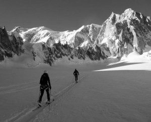 Christmas Ski Tour High Into Combe Maudit Mont Blanc Massif