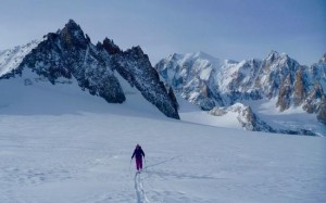 Skinning Journey Across The Col Rochefort
