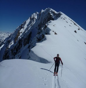 East Ridge of Pointes des Chavannes Ski Touring in the Val Veny