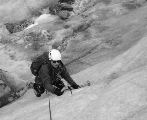 Paul Enjoying Steep Solid Ice Climbing Training On The Chamonix Mer de Glace