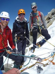Team Multi Pitch Abseil Descent Training  North Face of Pointe Lachenal