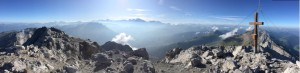 Wonderful Panoramic Views From the summit of Pointe Percee