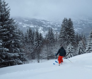 Heading In To The Trees On The St. Gervais Side Of Les Houches