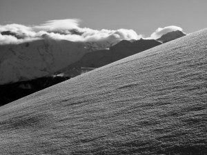 Beautiful Velvet Snow On The Ascent To Petit Patre