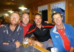 Celebratory-Drinks-at-the-Monchsjoch-Hut-After-the-Eiger-Traverse